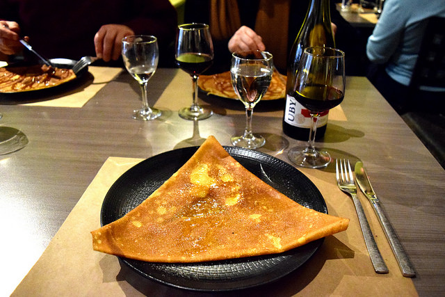 Butter & Sugar Galette at La Cour du Temple, Combourg #crepe #france #brittany