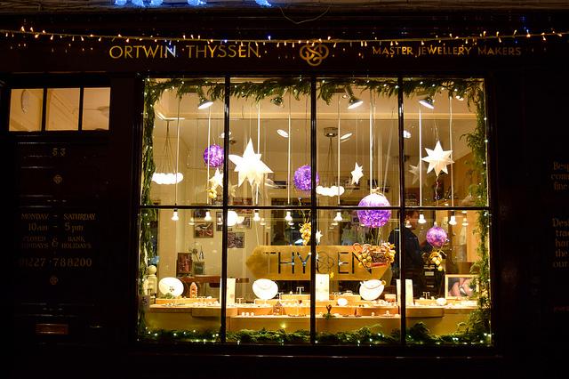 Ortwin Thyssen Christmas Windows, Canterbury #christmas