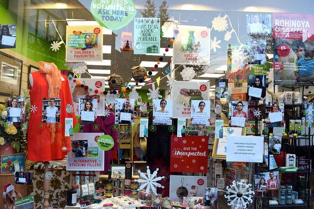 Oxfam Christmas Windows, Canterbury #christmas