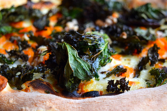 Pumpkin & Kale Pizza at Chapter Canterbury #pizza #canterbury #sourdough