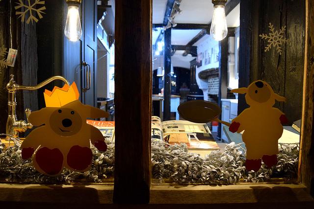 Herringbone Kitchens Christmas Windows, Canterbury #christmas