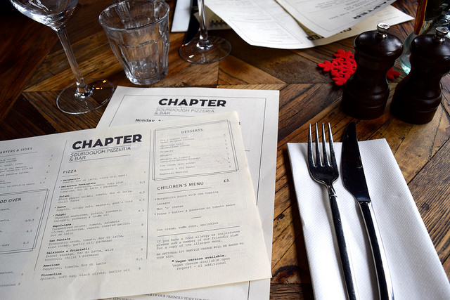Menus at Chapter, Canterbury #pizza #canterbury #sourdough