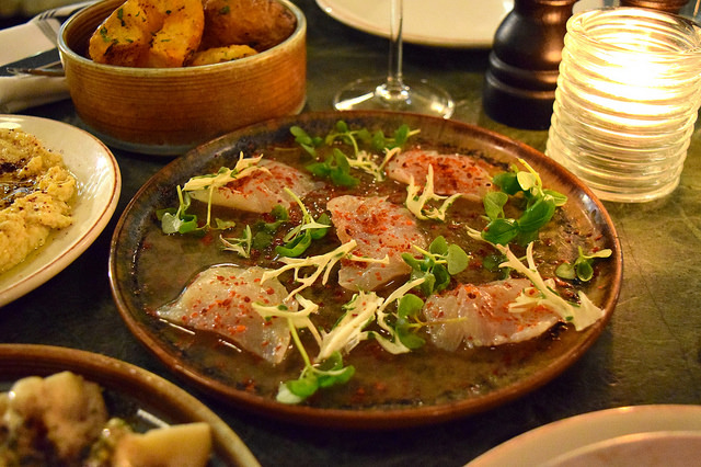 Marinated Sea Bass at Yosma, Marylebone #mezze #marylebone #london