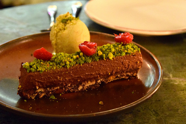 Chocolate Tart at Yosma, Marylebone #mezze #marylebone #london
