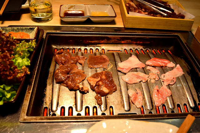 Marinated Beef and Pork at SuperStar Korean Barbecue