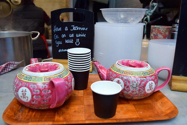 Jasmine Tea from Dumpling Shack at The Kitchen at Old Spitalfields Market #tea #jasminetea #dumplingshack #london