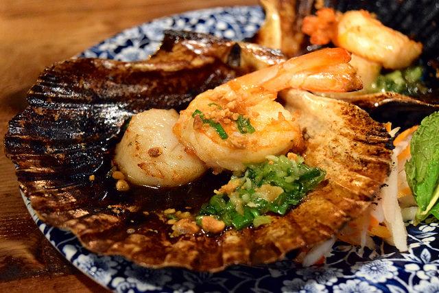 Vietnamese Prawns and Scallops at Vietfood, Chinatown #vietnamese #chinatown #london