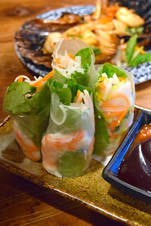 Prawn Summer Rolls at Vietfood, Chinatown #vietnamese #chinatown #london
