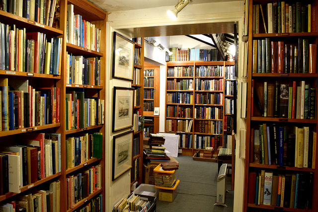Stacked Shelves at The Chaucer Bookshop, Canterbury
