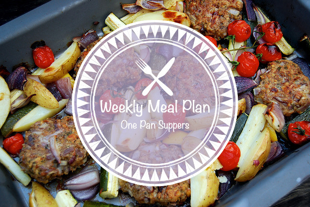 Weekly Meal Plan One Pan Suppers