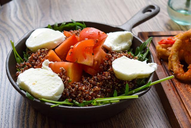Quinoa Salad with Tomatoes & Mozzarella at Deakins, Canterbury #quinoa #salad #mozzarella #tomato #lunch #canterbury