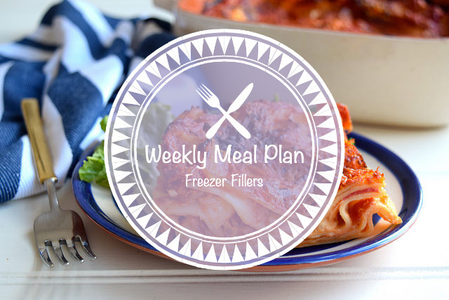 Weekly Meal Plan Freezer Fillers