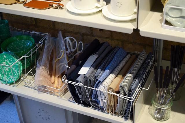 Table Linens at Mee Market, Soho #linens #london #soho