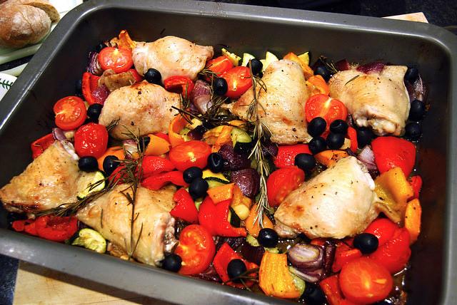 Mediterranean Roast Chicken #chicken #roast #dinner #weeknight