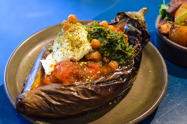 Roasted Aubergine at The Good Egg, Kingly Court #aubergine #eggplant #goodegg #lunch #london