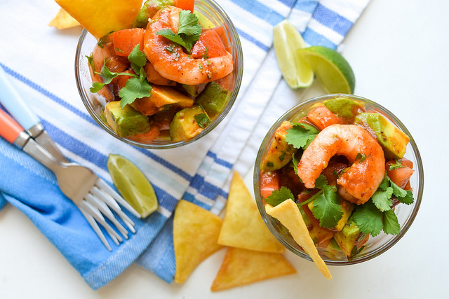 Easy Mexican Prawn Cocktails #prawn #shrimp #prawncocktail #shrimpcocktail #mexican #tomato #avocado #chipolte