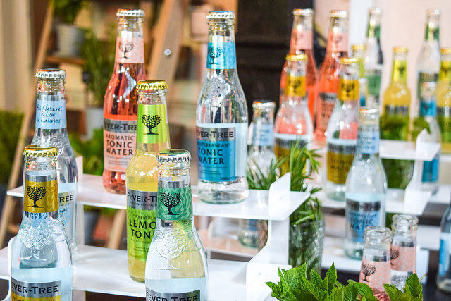 Fever Tree Tonics at The Royal Horseguards Hotel's Secret Herb Garden #tonic #gingarden #pubgarden #hotel #london