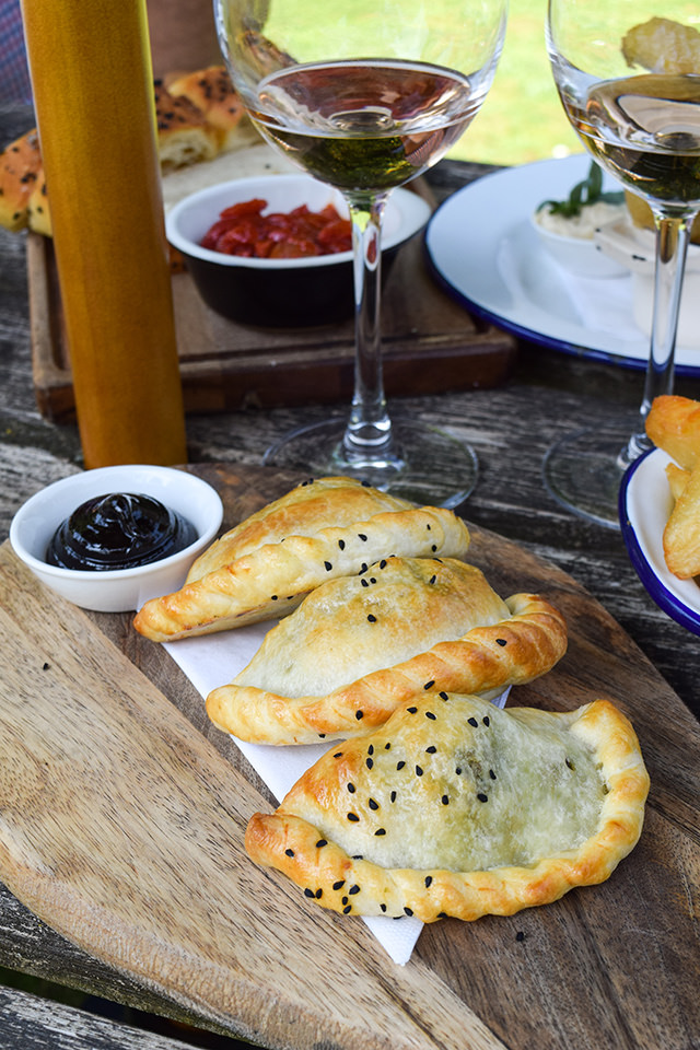 Lamb & Potato Pasties at The Compasses Inn, Crundale