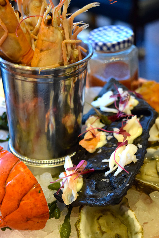 Wasabi Seafood Nibbles at Fancy Crab, Marylebone
