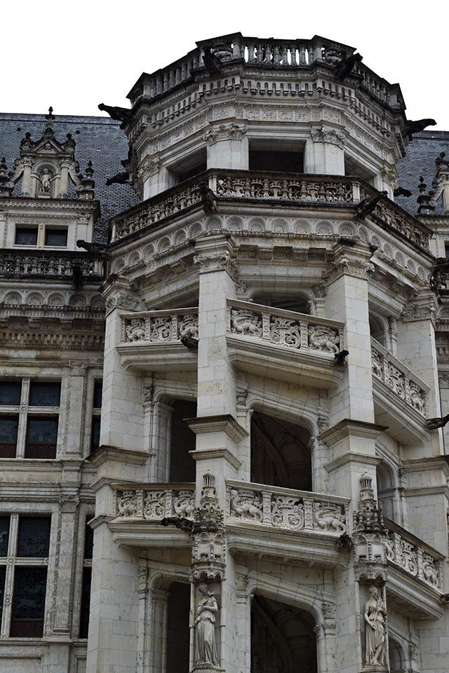 Outdoor Staircase at Château de Blois