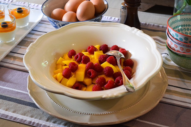 Fresh Fruit at Manoir de Malagorse, France #fruit #breakfast #hotel #travel #france