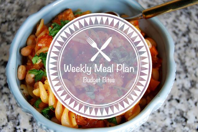 Weekly Meal Plan Budget Bites