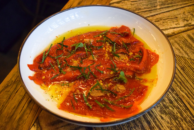 Roasted Red Peppers at Hovarda, Soho #greek #turkish #london #soho #peppers