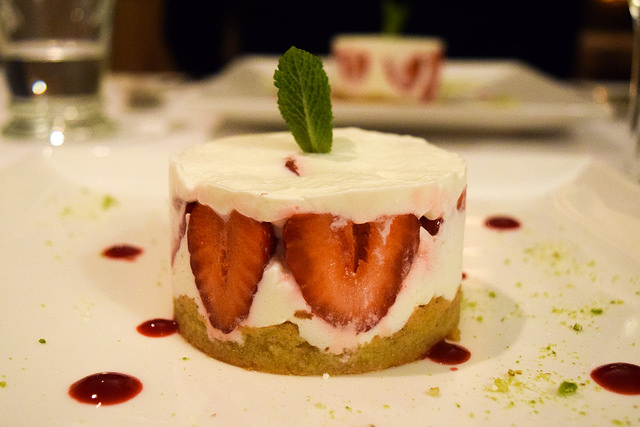 Strawberry Dessert at Manoir de Malagorse, France #strawberry #dessert #hotel #travel #france