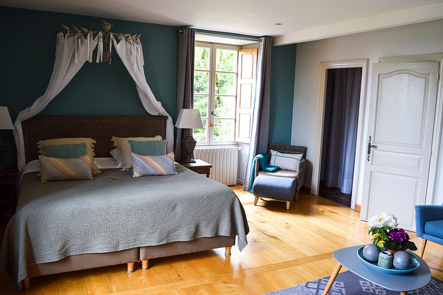 Bedroom at Manoir de Malagorse, France #hotel #travel #france