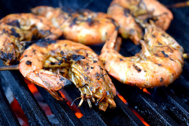 Giant Barbecue Cajun Shrimp #cajun #prawns #shrimp #barbecue #grilling