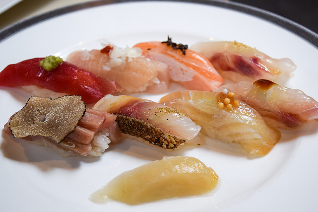 Omakae Eight Sushi Lunch at Yashin Ocean House, Kensington #sushi #london #kensington