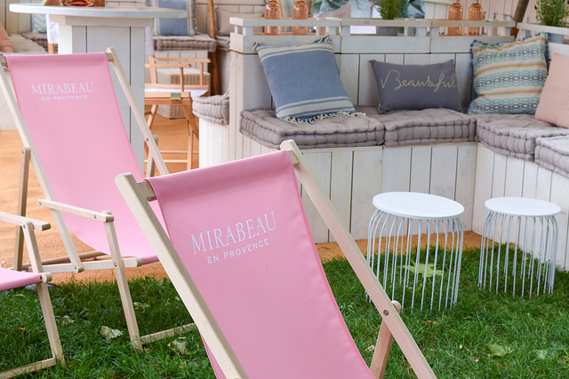 Mirabeau Deck Chairs at Taste of London #tasteoflondon