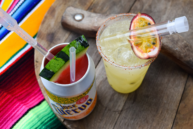 Watermelon and Passion Fruit Margaritas at Taste of London #passionfruit #watermelon #margarita #tequila #cocktail #tasteoflondon