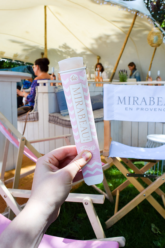 Mirabeau Rose Popsicles at Taste of London #rose #popsicle #tasteoflondon