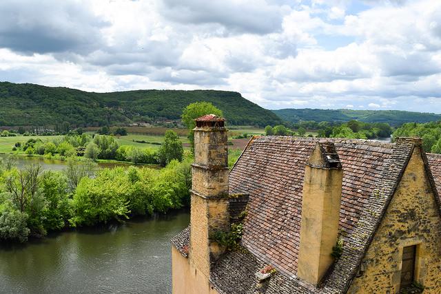 Dordogne River from Chateau de Beynac, Dordogne #dordogne #france #travel #chateau