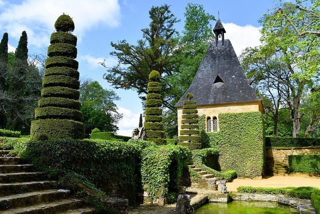 Chapel at the Jardins de Eyrugnac #gardens #eyrugnac #dordogne #france #travel