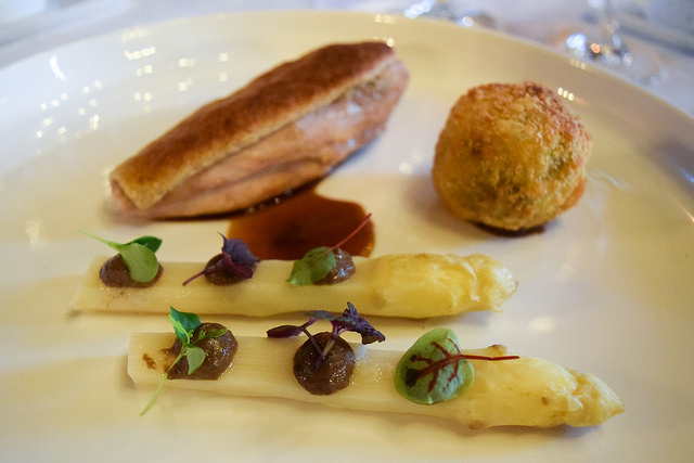 Guinea Fowl with a Walnut Crust at Chateau de la Treyne