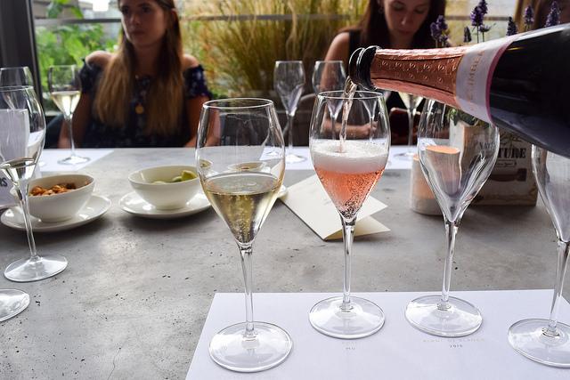 Tasting Nyetimber Rose at Angler, Moorgate #nyetimber #englishsparklingwine #london #wineterrace #bar