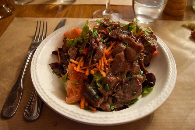 Goose Gizzard Salad at La Petite Borie, Sarlat #salad #goose #sarlat #france #dordogne #perigord