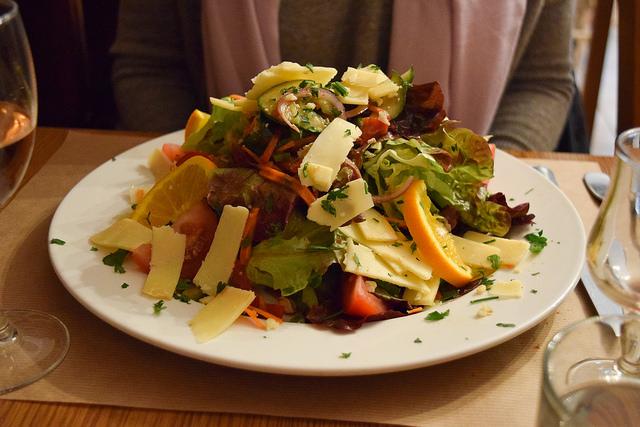 Dinnertime Salad at La Petite Borie, Sarlat #salad #sarlat #france #dordogne #perigord