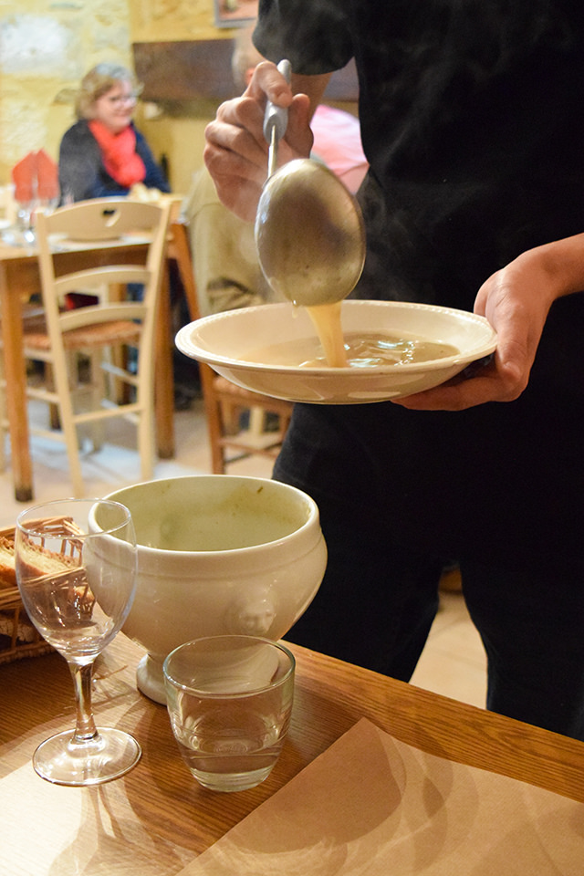 Garlic Soup at La Petite Borie, Sarlat #garlic #soup #sarlat #france #dordogne #perigord
