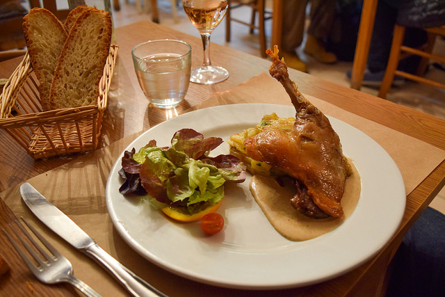 Duck Confit at La Petite Borie, Sarlat #duck #confit #duckconfit #sarlat #france #dordogne #perigord