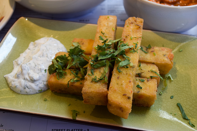 Polenta and Feta Fries at Ceru, Soho