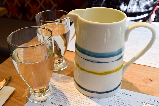 Tableware at Ceru, Soho