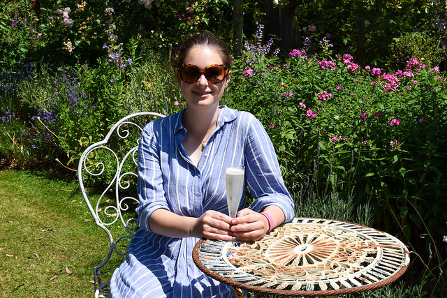 Drinking English Sparkling Wine at Wealden Literary Festival 2018